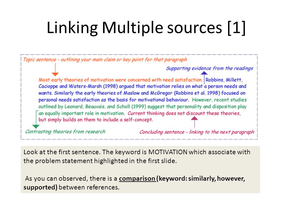 Linking Multiple sources [1]